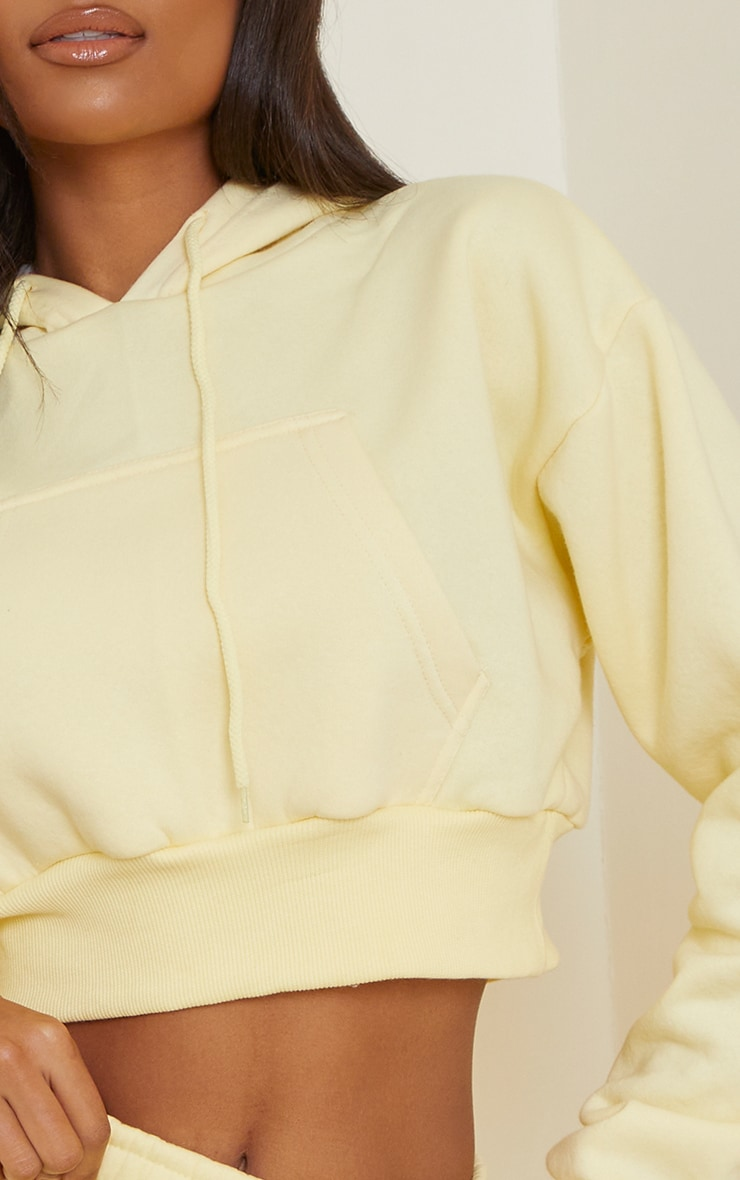 Lemon Pocket Front Cropped Hoodie 4
