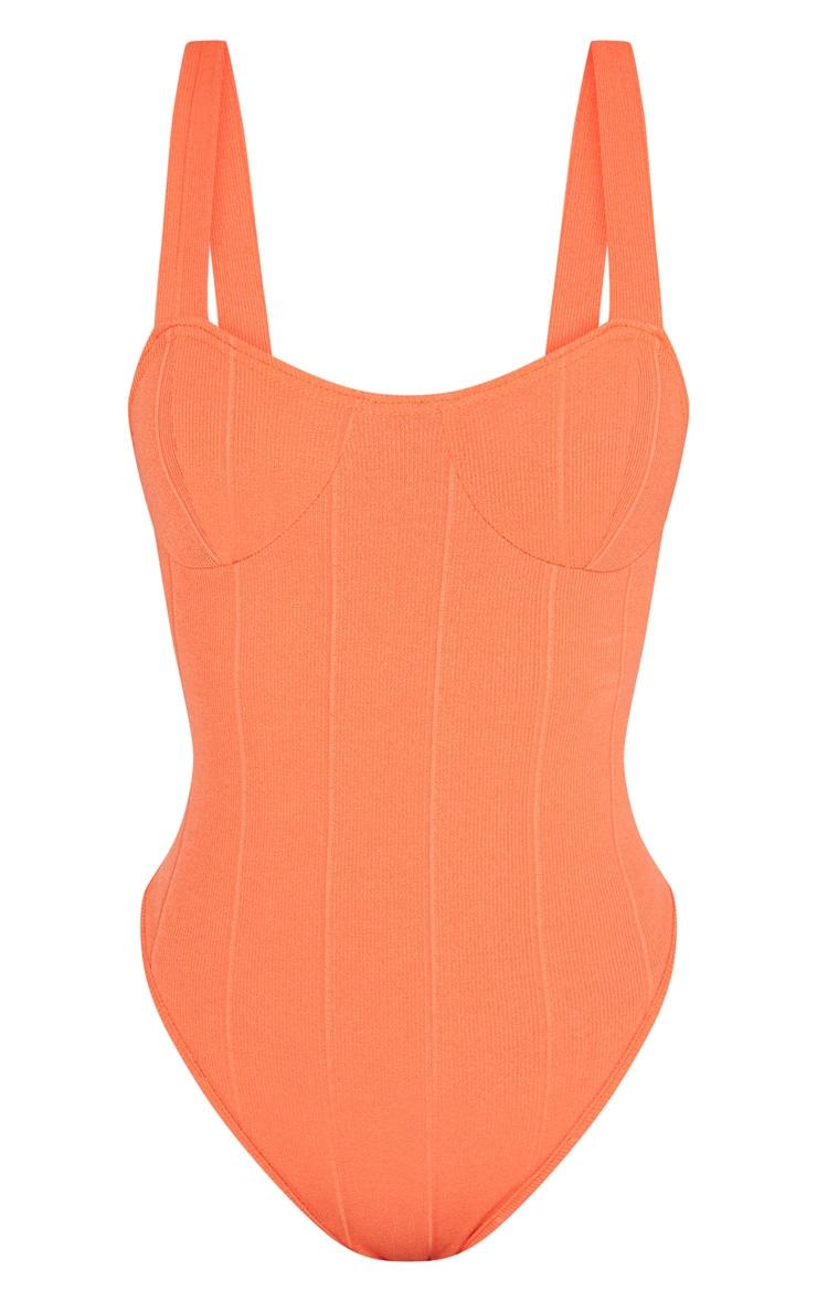Shape Orange Bandage Bodysuit 3
