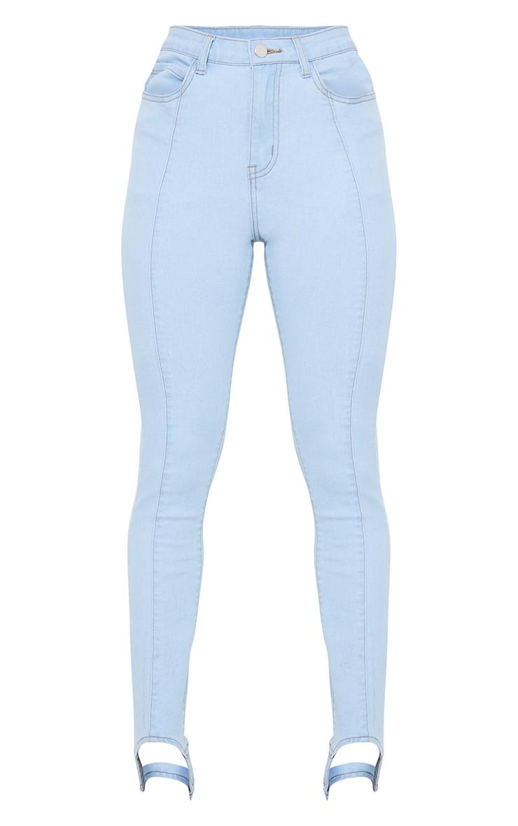 Petite Stirrup Mid Blue Stretch Skinny Jeans 5