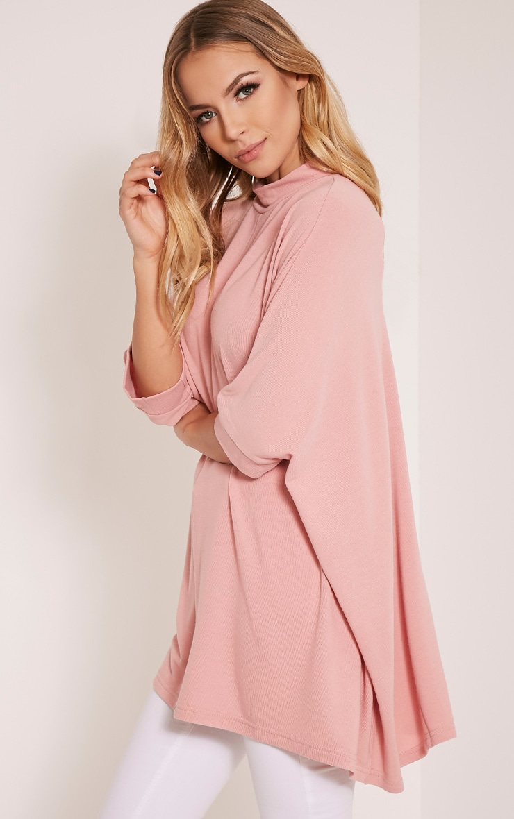 Lottia Blush Oversized Batwing Jumper 5