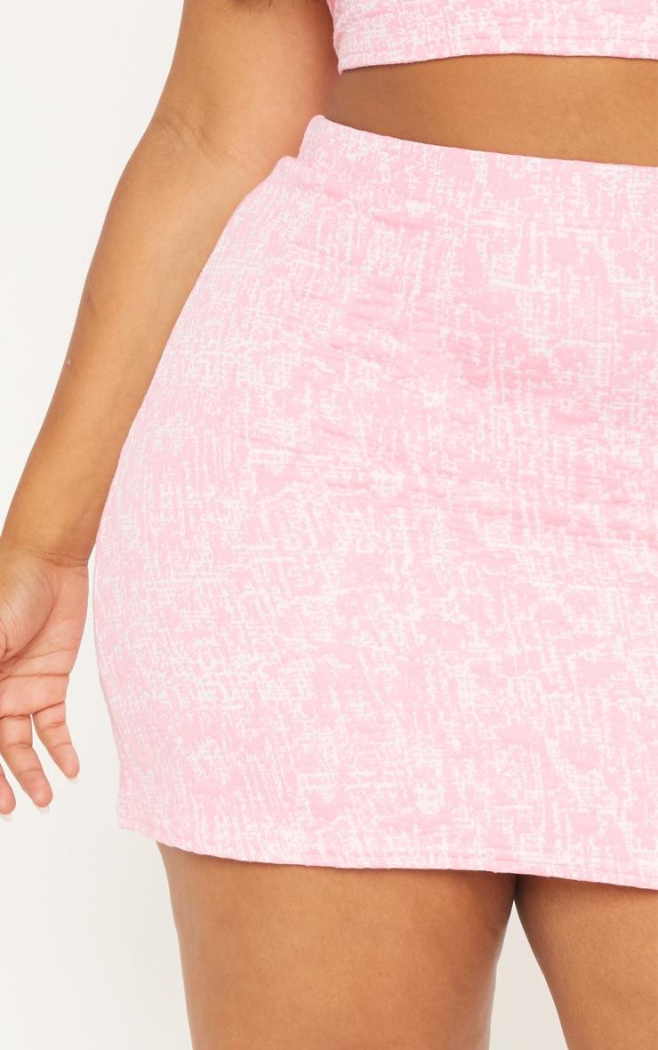 Plus Pastel Pink Boucle Skirt 6