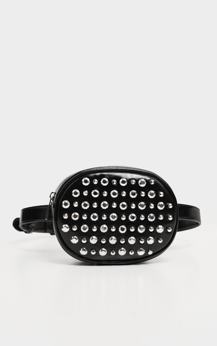 Black Patent PU Bum Bag And Cross Body Bag 2