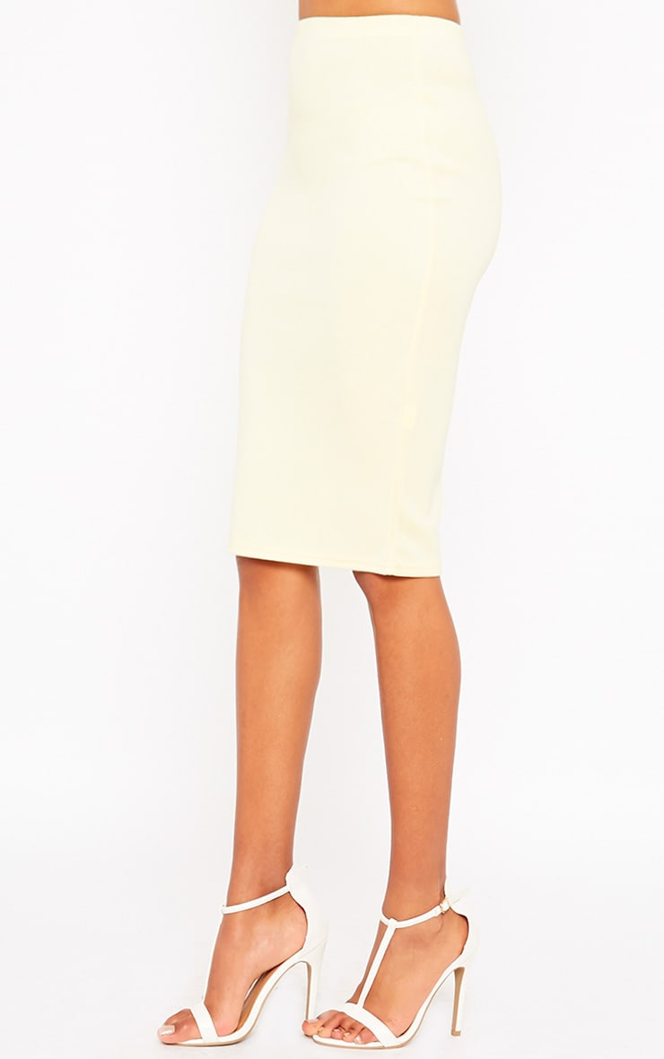 Winnie Lemon Scuba Midi Skirt 3