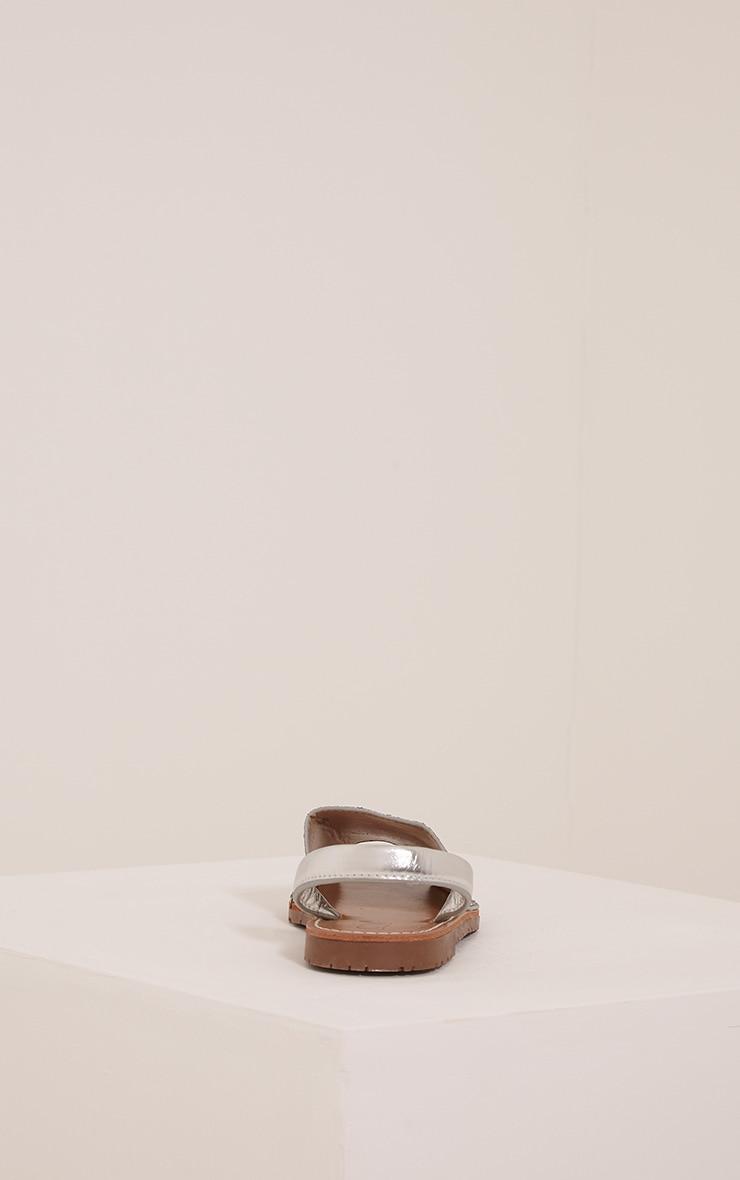Luciana Silver Glitter Sandals 4