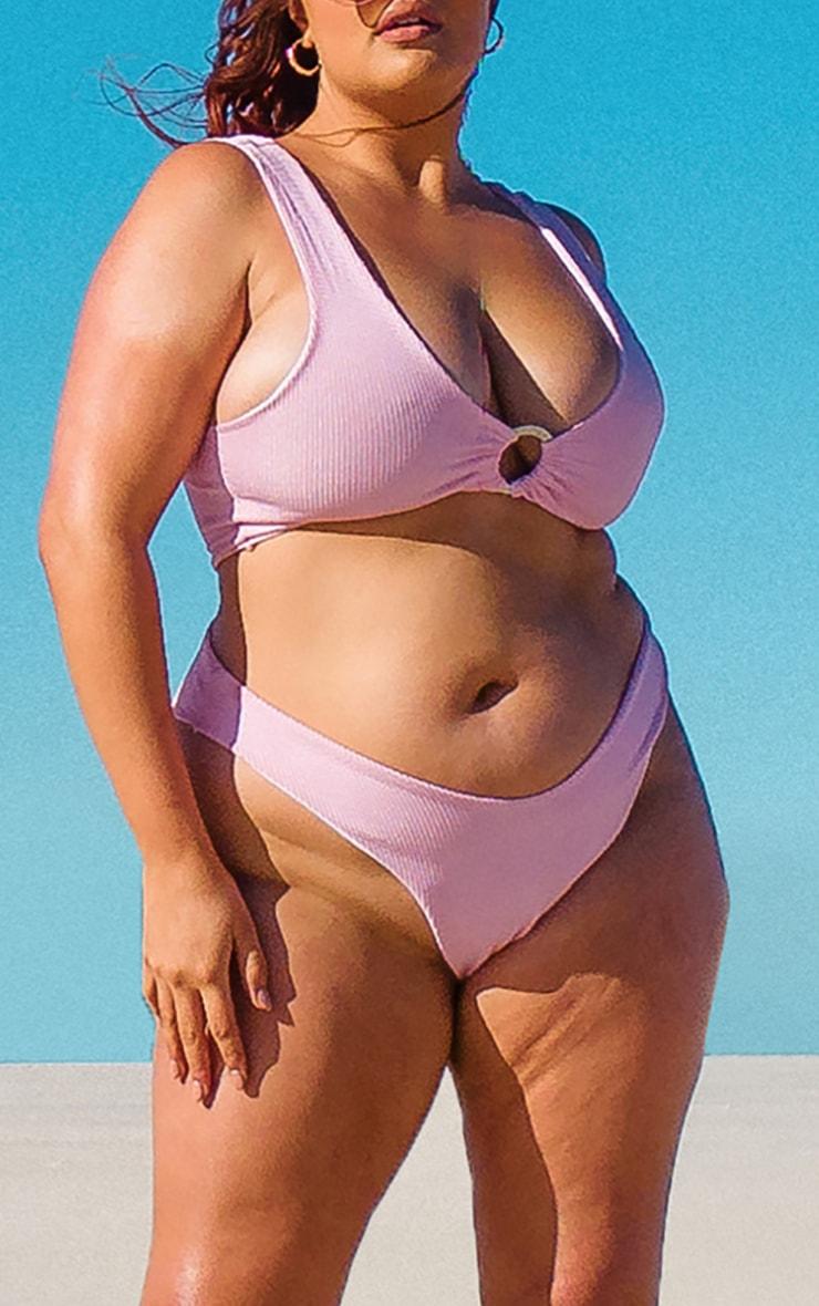Plus Pink Crinkle Bikini Bottoms 1