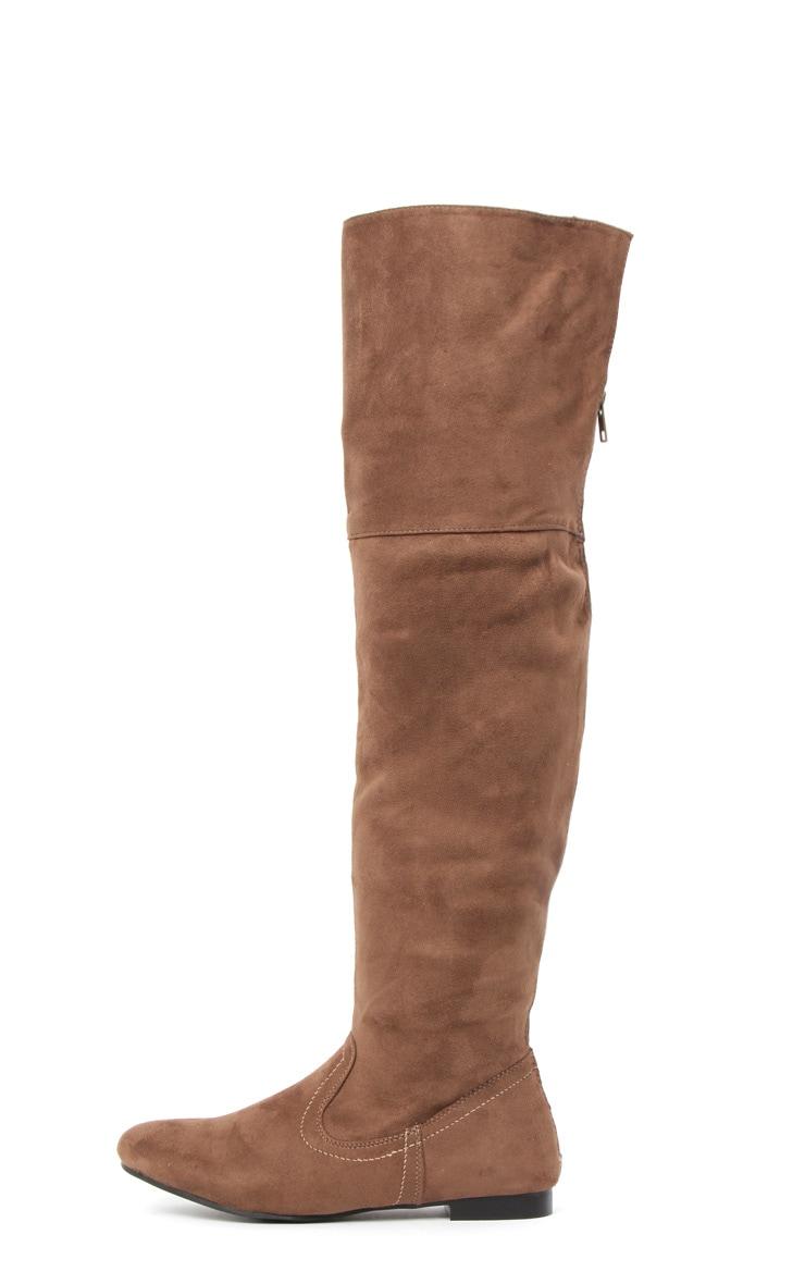 Jadie Brown Suede Over The Knee Boots 1