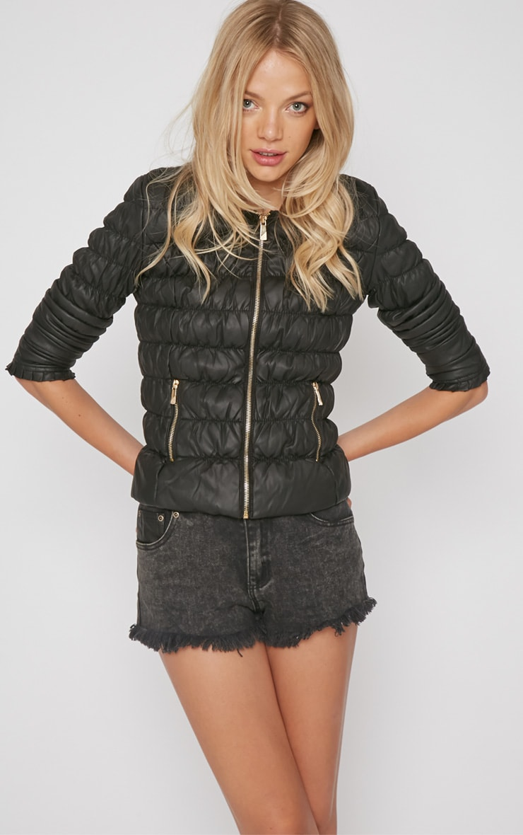 Natasha Black Padded Jacket 3