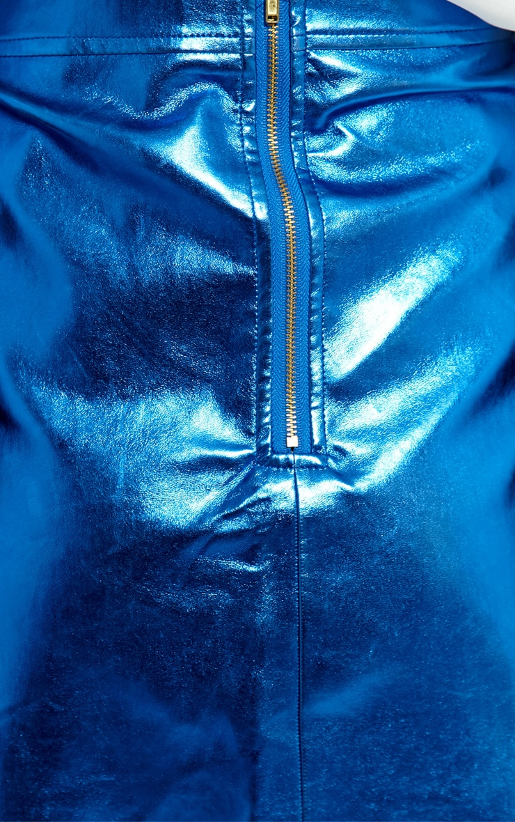 Jacqui Blue Foil Skirt 4