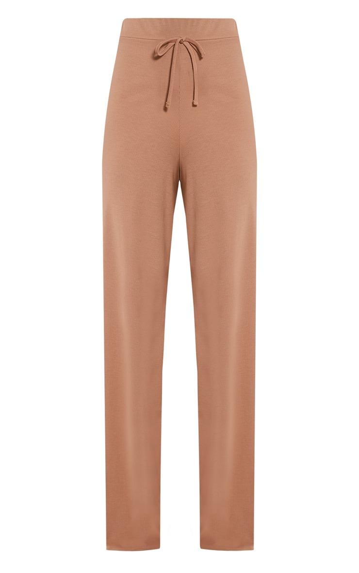 Flossy Camel Wide Leg Joggers 3