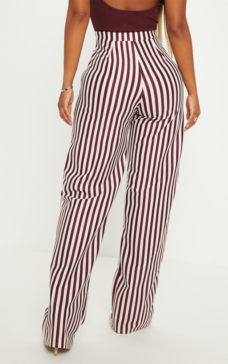 Shape Burgundy Wide Leg Pants  4