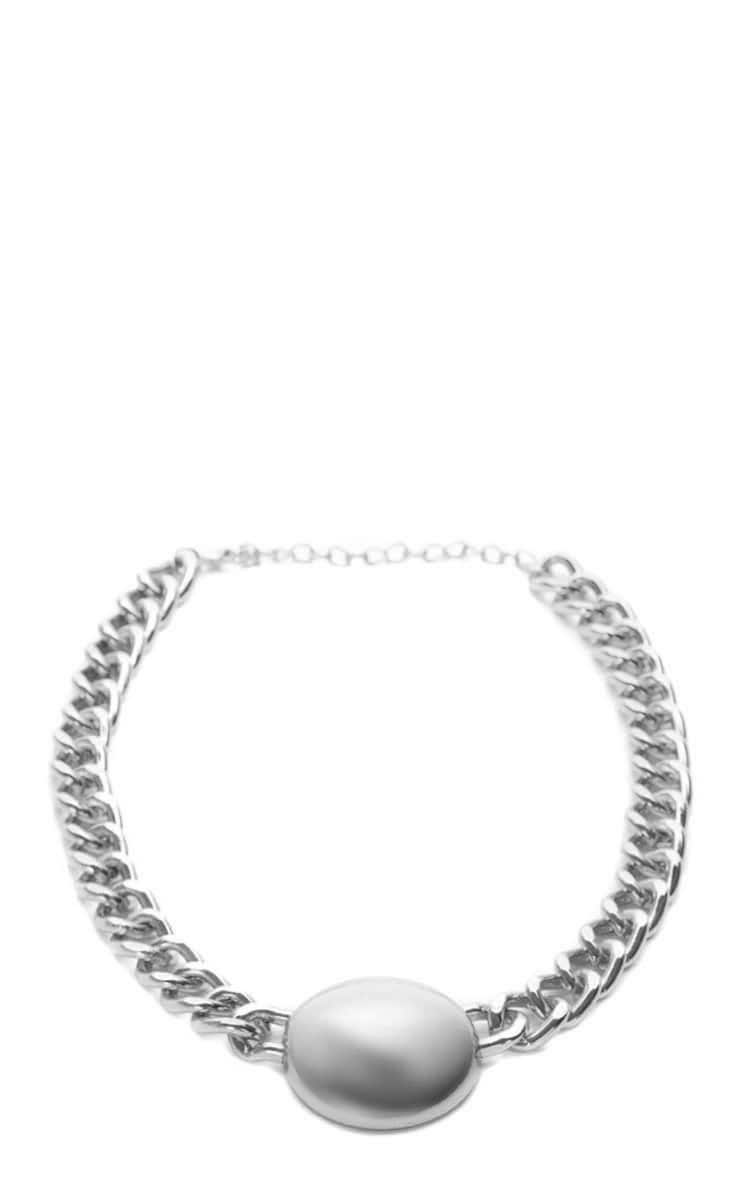 Cammy Silver Circle Chunky Chain Necklace 3