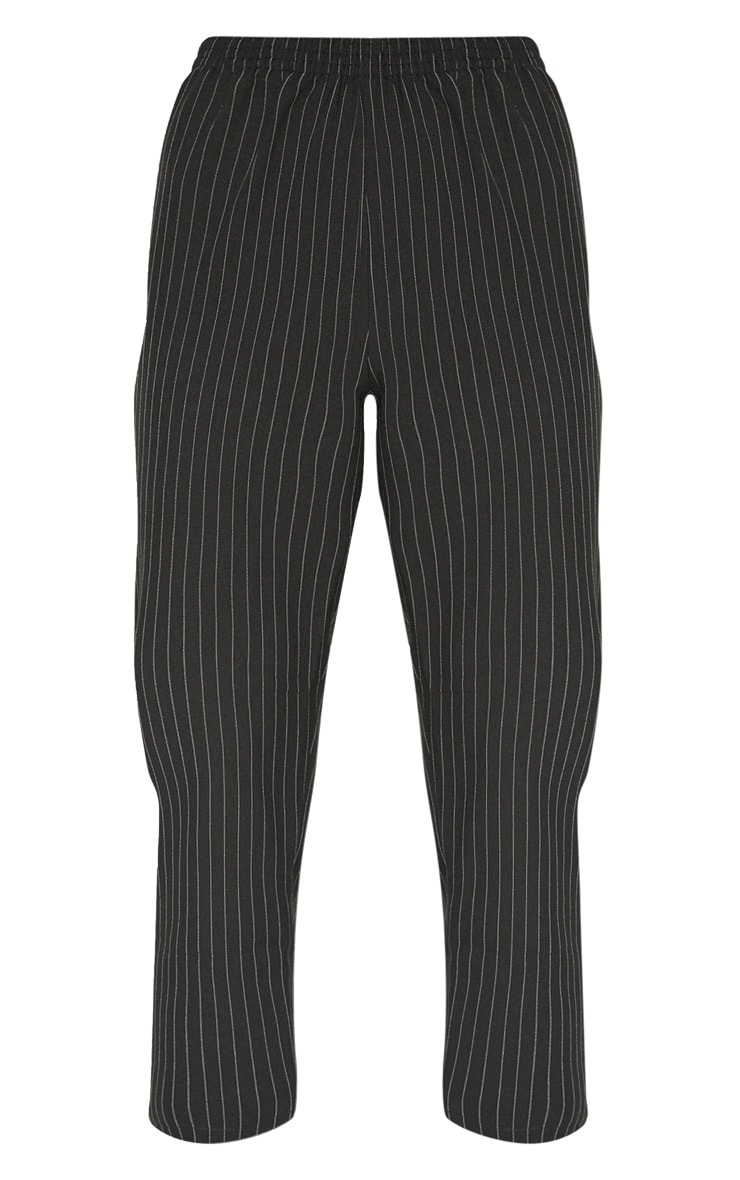 Black Pinstripe Tailored Side Stripe Cigarette Trouser 3