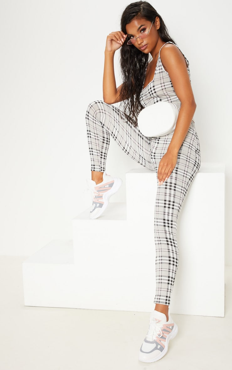Grey Check Legging 1
