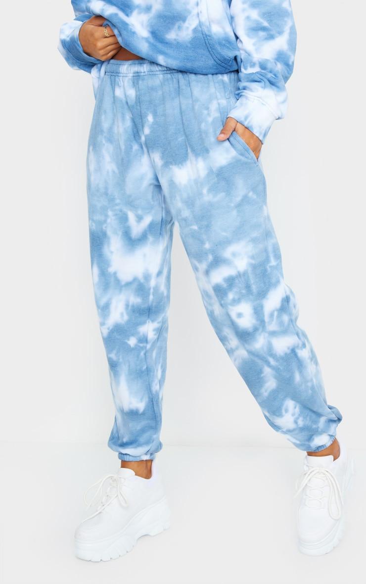 Blue Tie Dye High Waist Joggers 2
