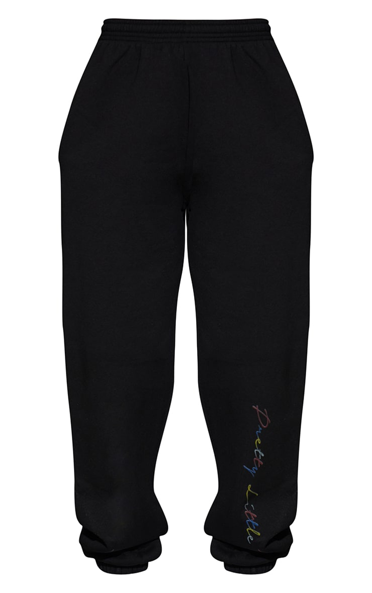 PRETTYLITTLETHING Black Multi Joggers 5