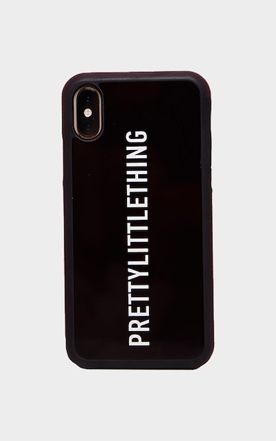 PRETTYLITTLETHING Black Logo 10/X/XS iPhone Case