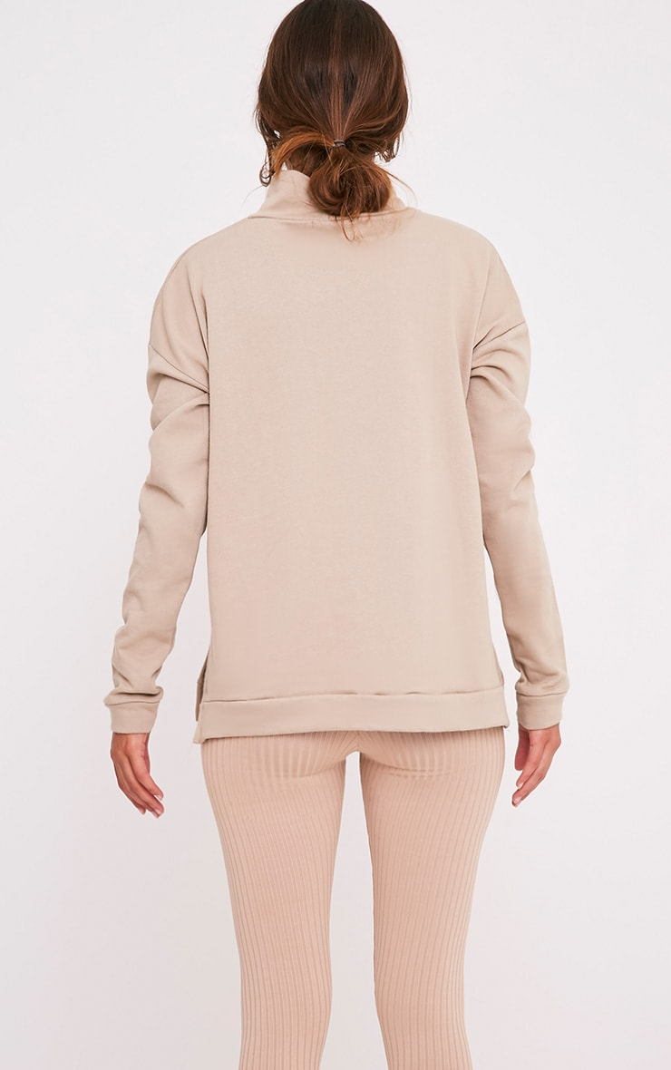 Ema Taupe Turtle Neck Oversized Sweater 2