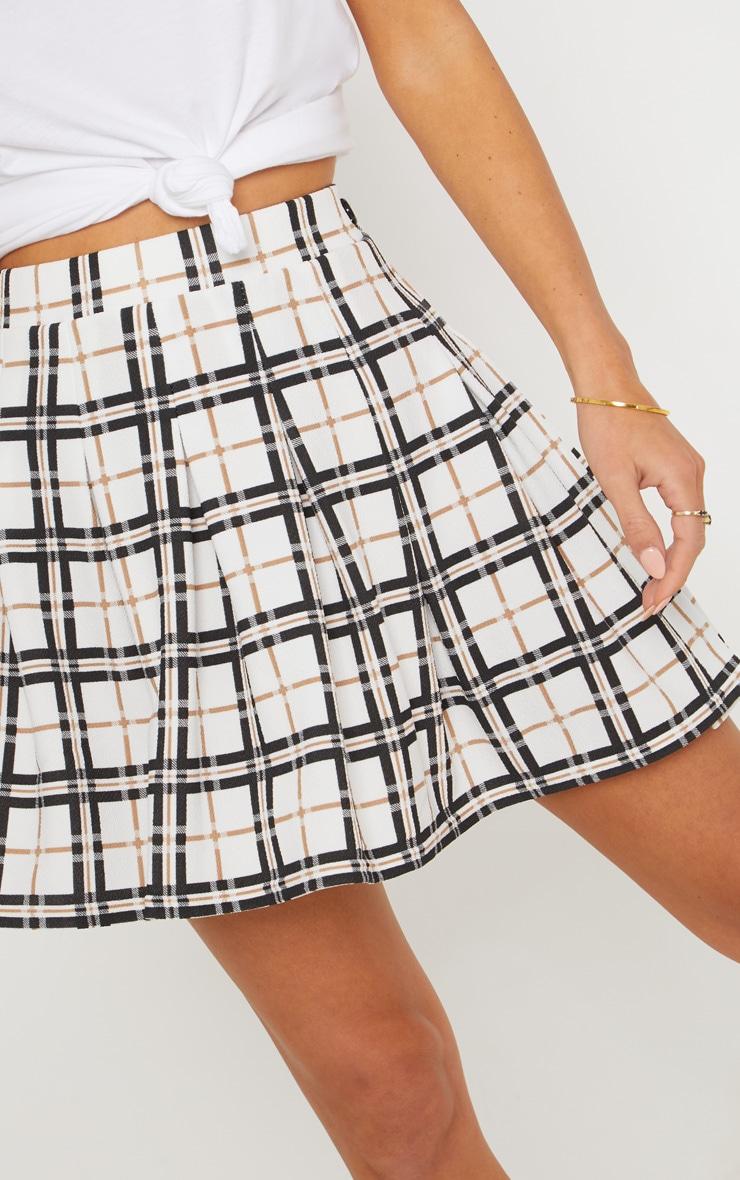 Black Check Tennis Side Split Skirt 5