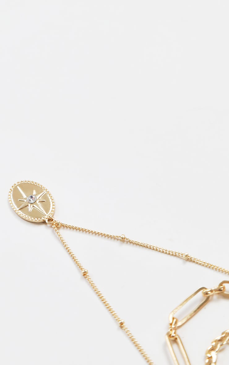 Gold Dainty Layering Chain Necklace 2