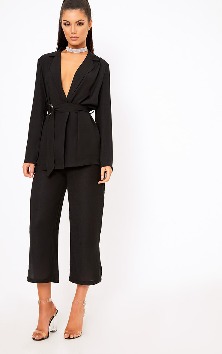 Romilly Black Belted D Ring Detail Blazer 4
