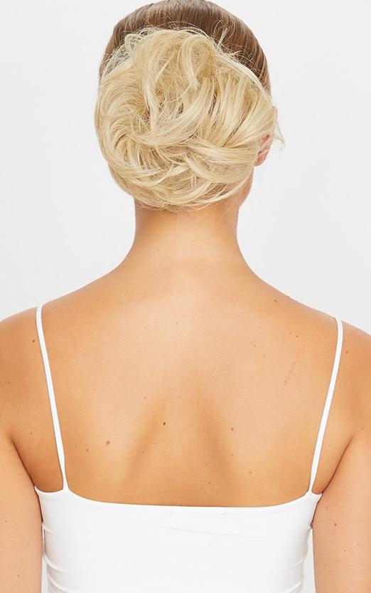 LullaBellz Premium Messy Bun Hair Up Scrunchie Light Blonde 4