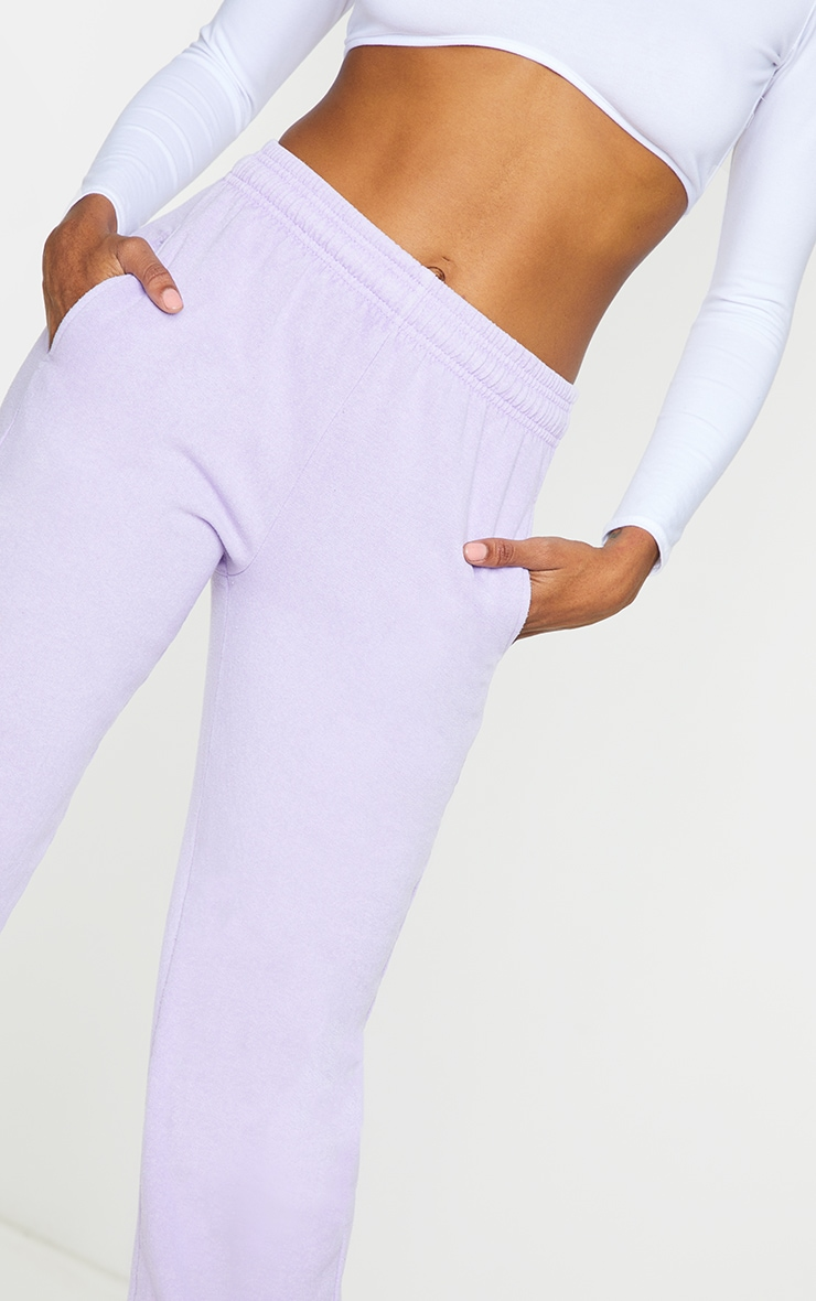 Lilac Washed Effect Casual Joggers 4