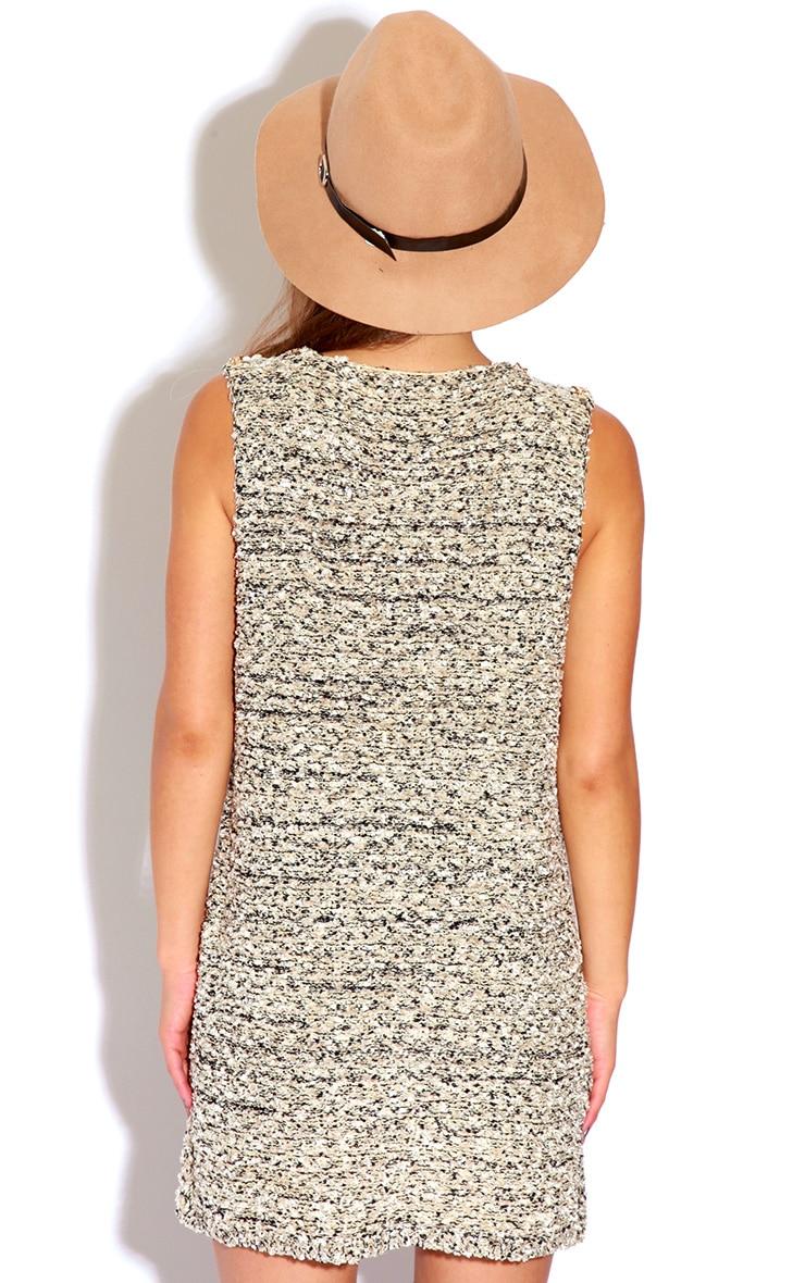 Helen Beige Knitted Textured Vest 2
