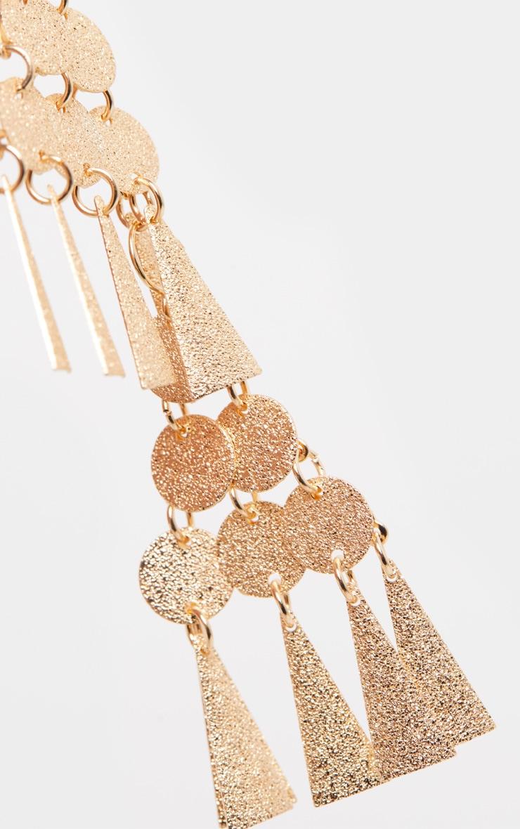 Gold Mini Disc And Plate Tassel Earrings 2