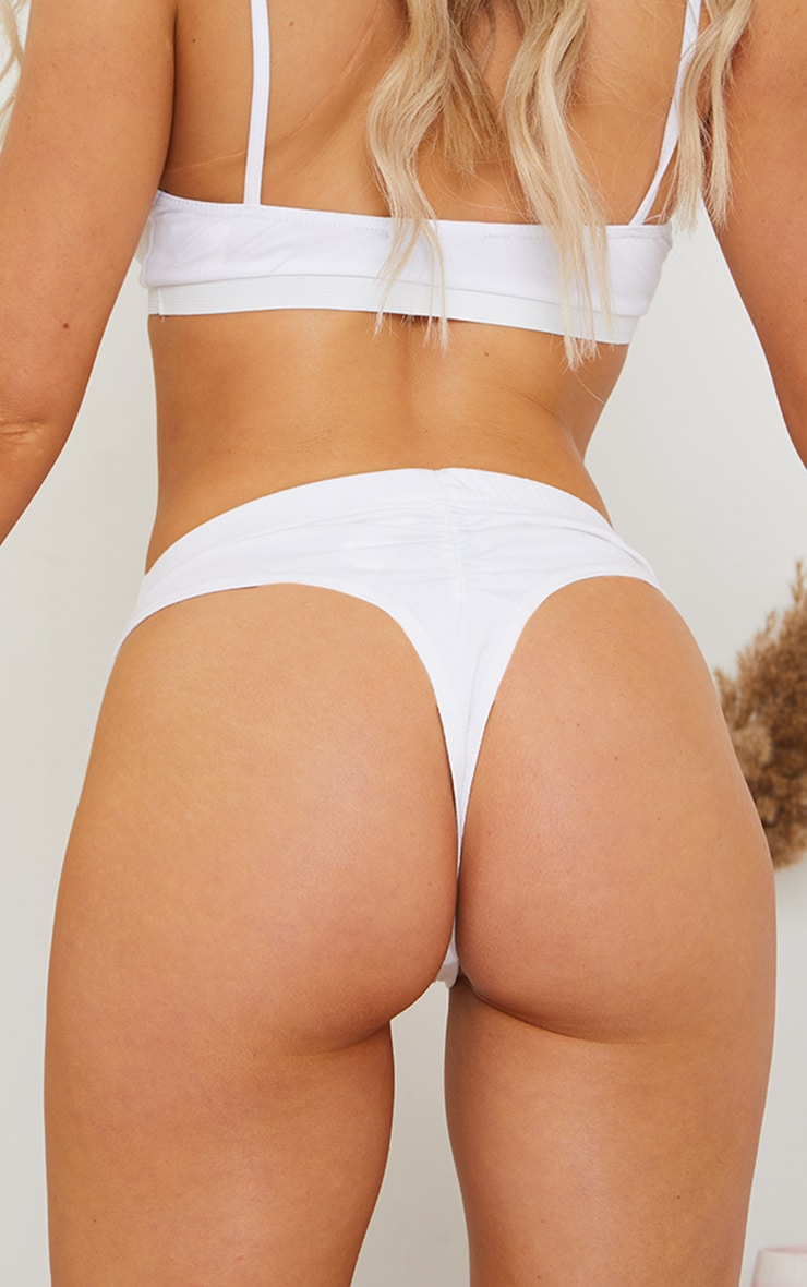 Multi Basic Cotton Ruched Bum Multipack Thongs 5