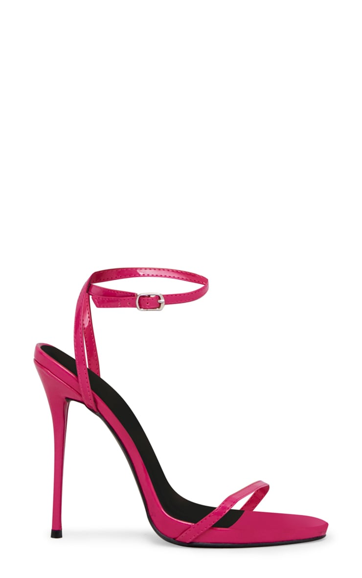 Fuchsia Patent PU Single Strap Stiletto Sandals 3