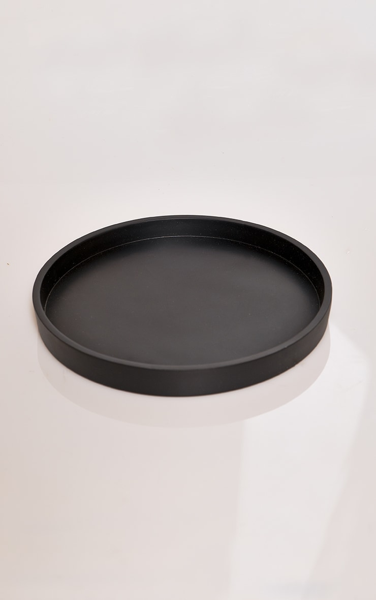 Black Large Round Resin Tray 3