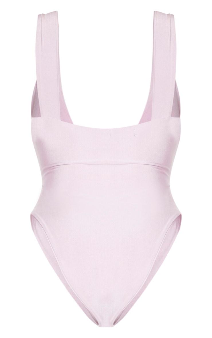 Shape Lilac Cut Out Detail Swimsuit 6