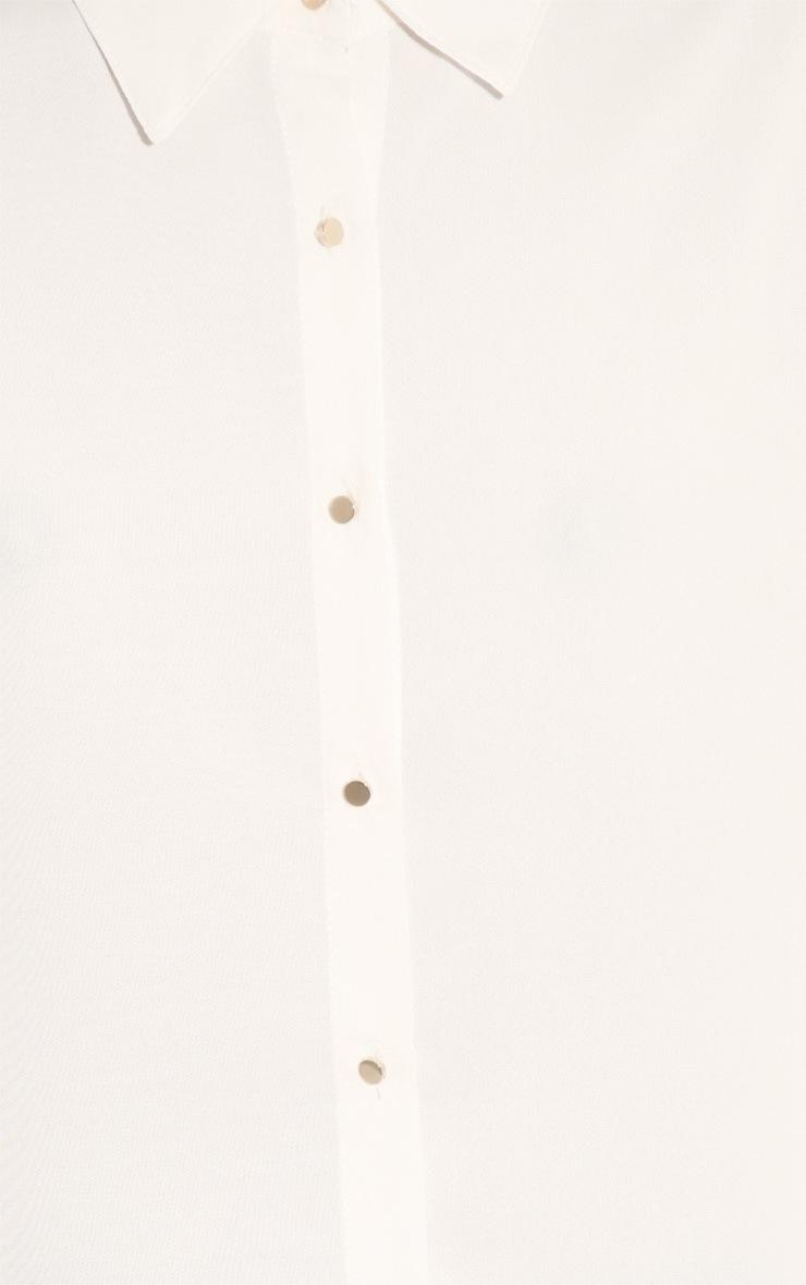 Effie White Chiffon Sleeveless Shirt -M/L 5