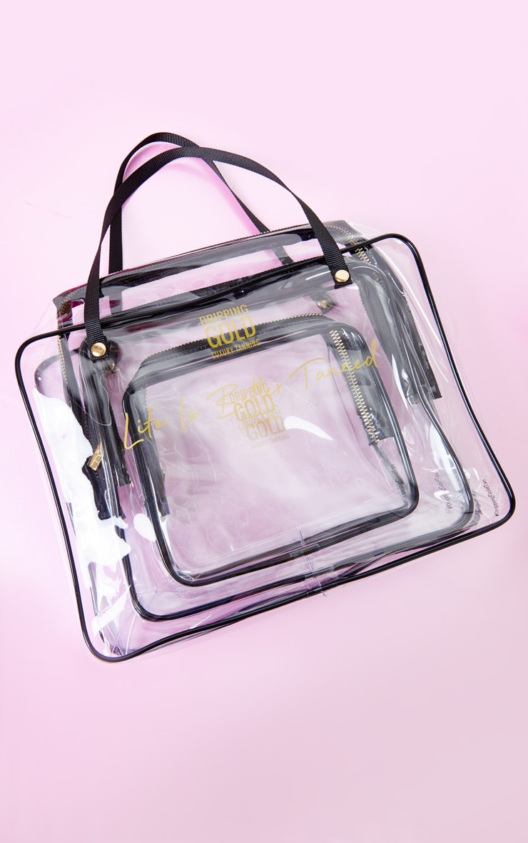 SOSU Dripping Gold Summer Travel Bags Set of 3 2