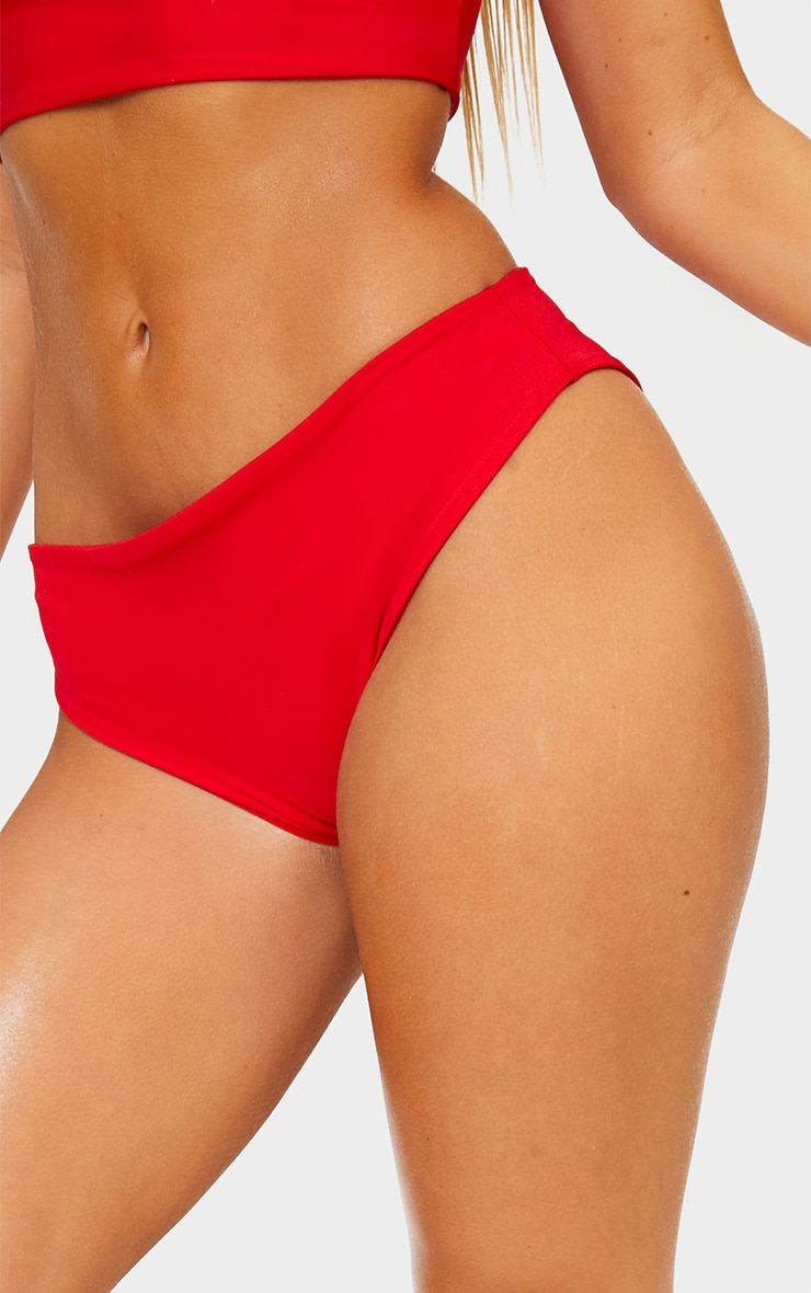 Red Mix & Match Cheeky Bum Bikini Bottom 6