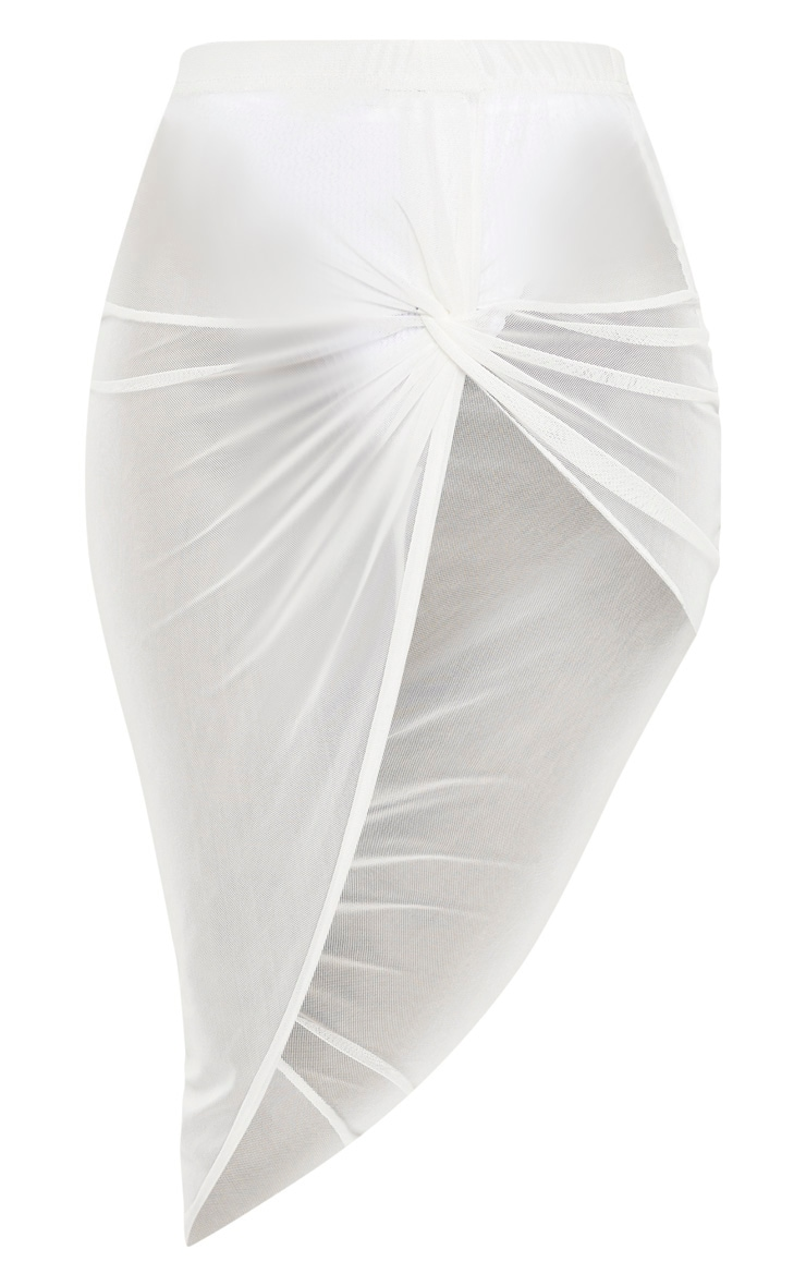 White Tie Knot Side Sarong 1