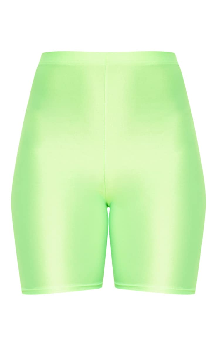 Lime Neon Cycling Shorts 3