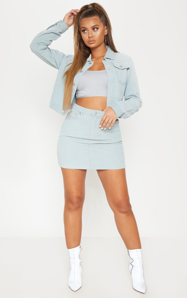 Dusty Blue Cord Skirt 5