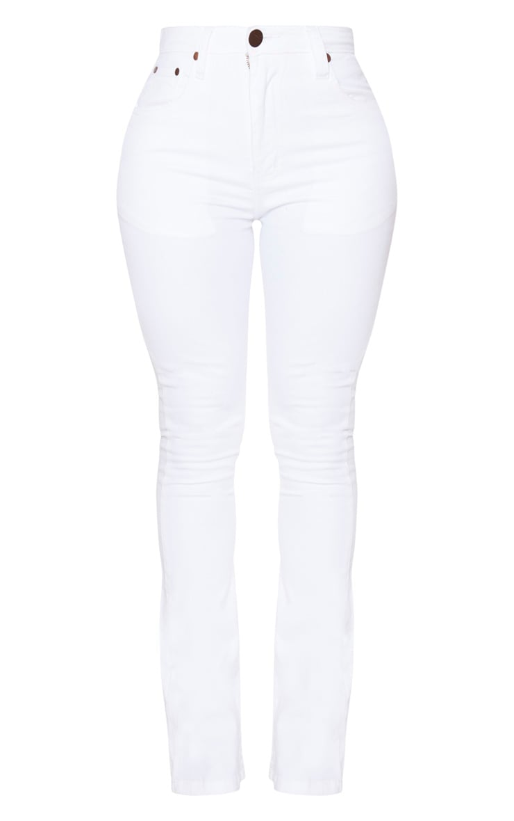 Shape White Stretch Denim Flared Jean 3