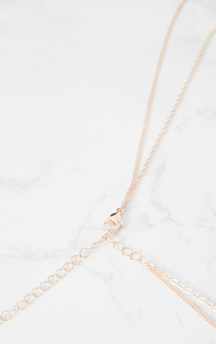 Rose Gold Drop Diamante Necklace 4