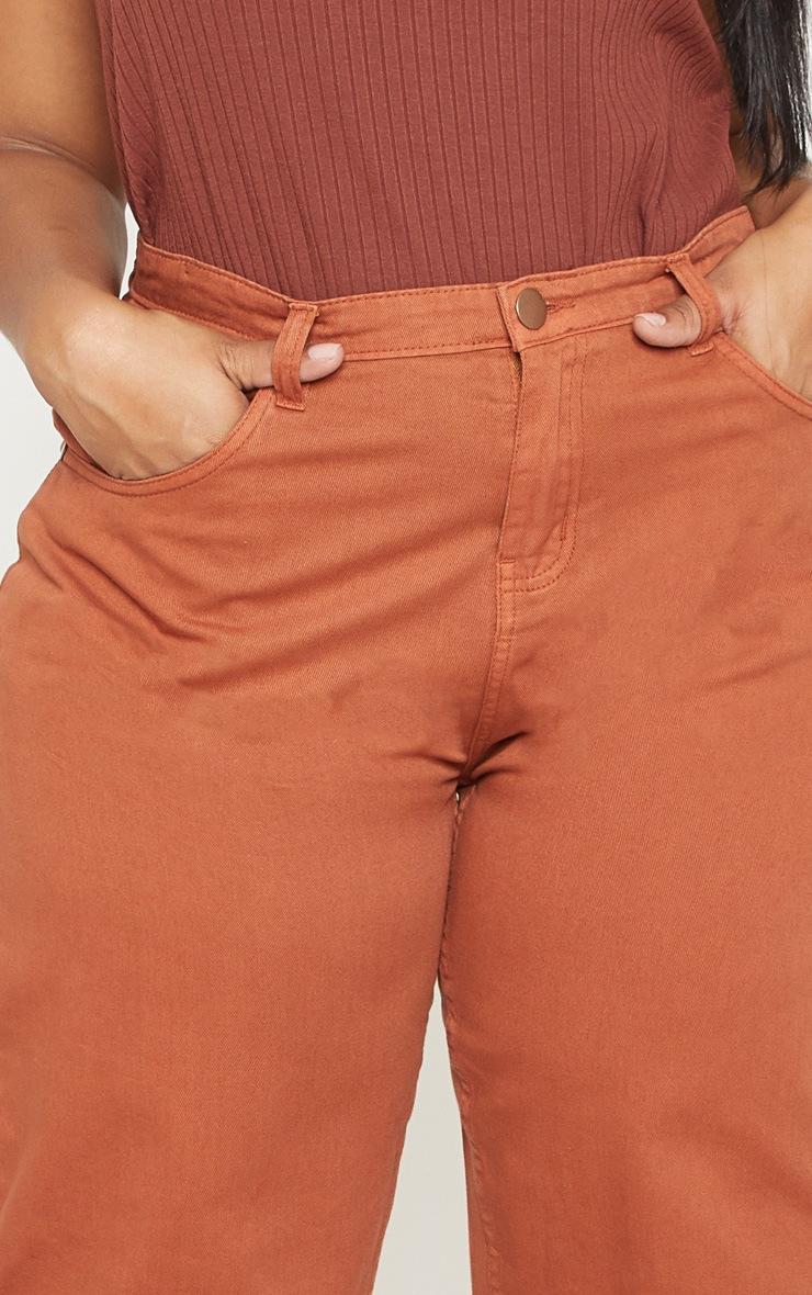 Plus Rust Extreme Wide Leg Jean 5