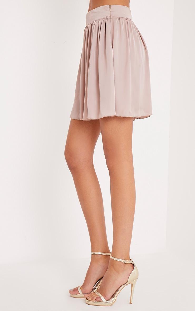 Ostara Stone Floaty Satin Mini Skirt 4