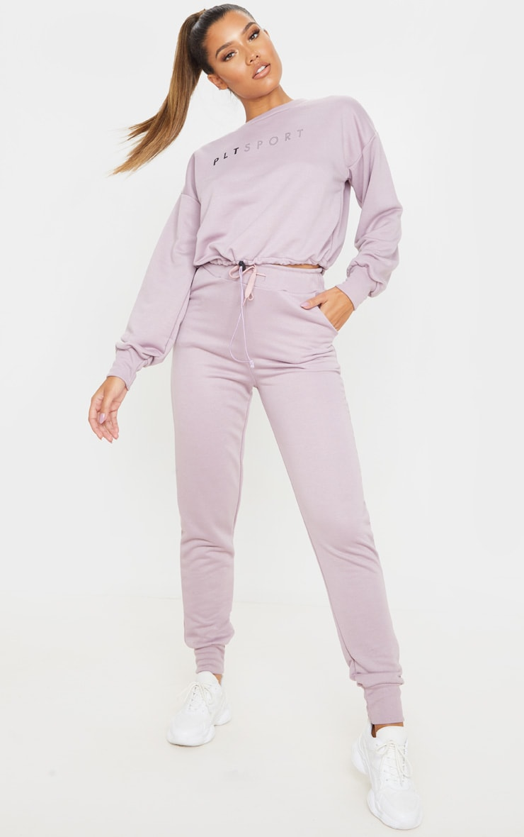 PRETTYLITTLETHING Mauve Basic Gym Sweat Top 4