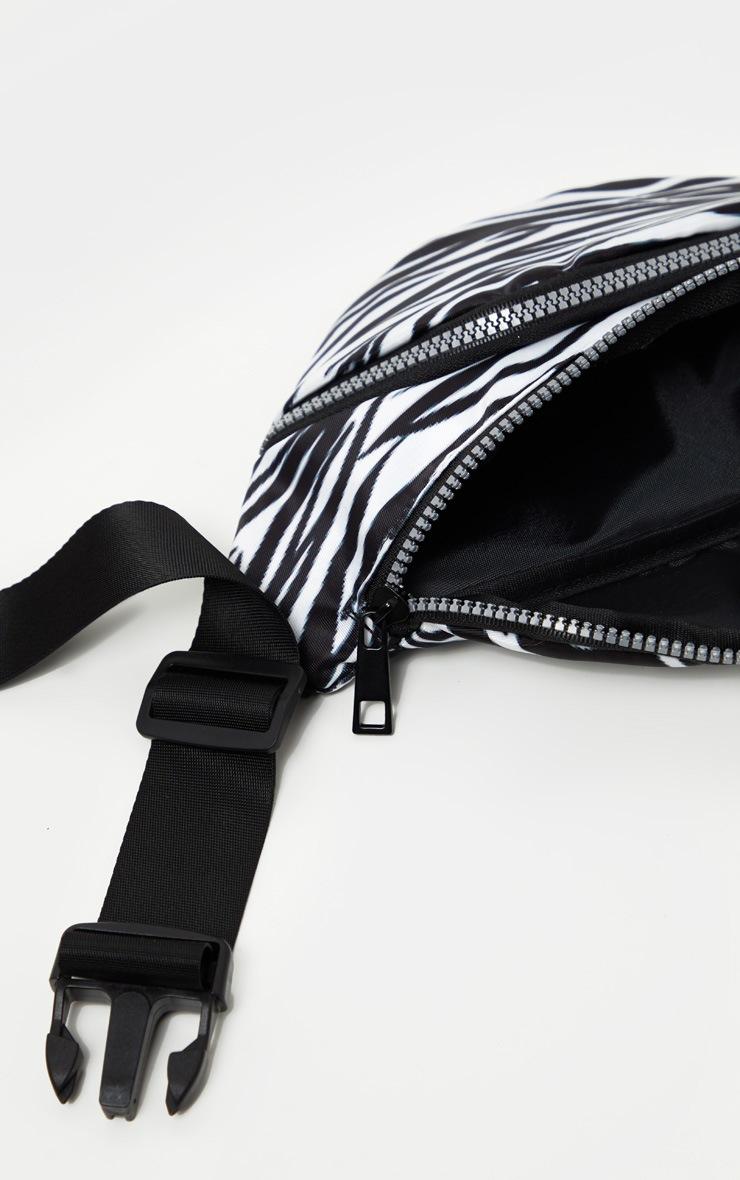 Mono Zebra Nylon Bum Bag 2