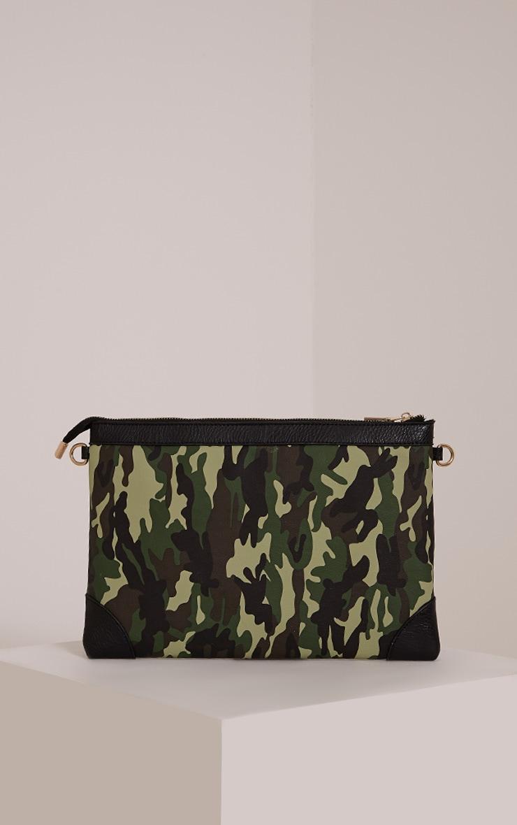 Devin Green Camouflage Clutch Bag 2