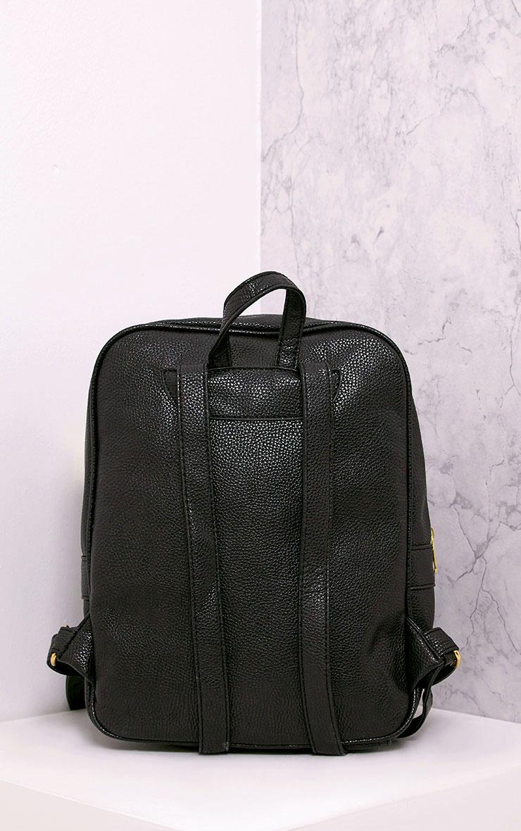 Yamkah Black PU Backpack 4