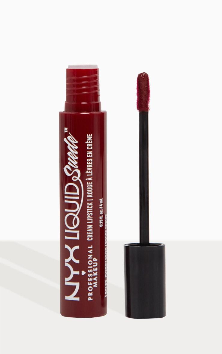 NYX Professional Makeup Liquid Suede Cream Lipstick Cherry Skies 1