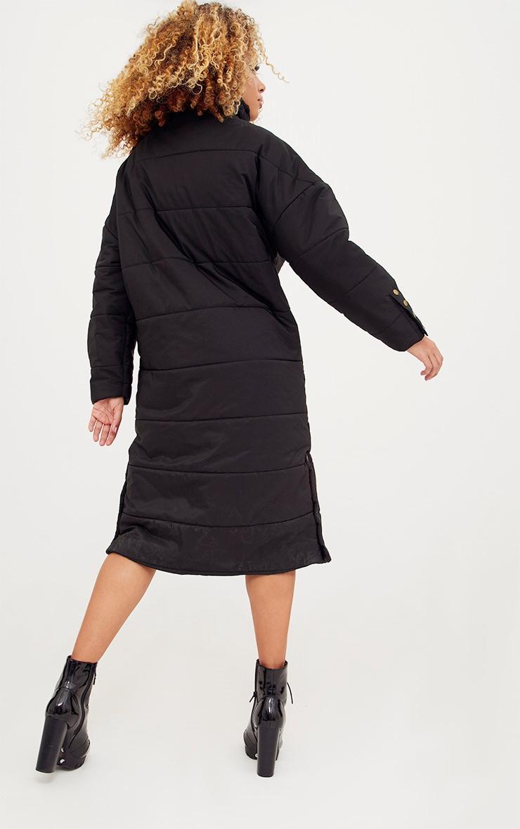 Premium Black Longline Puffer Jacket 2