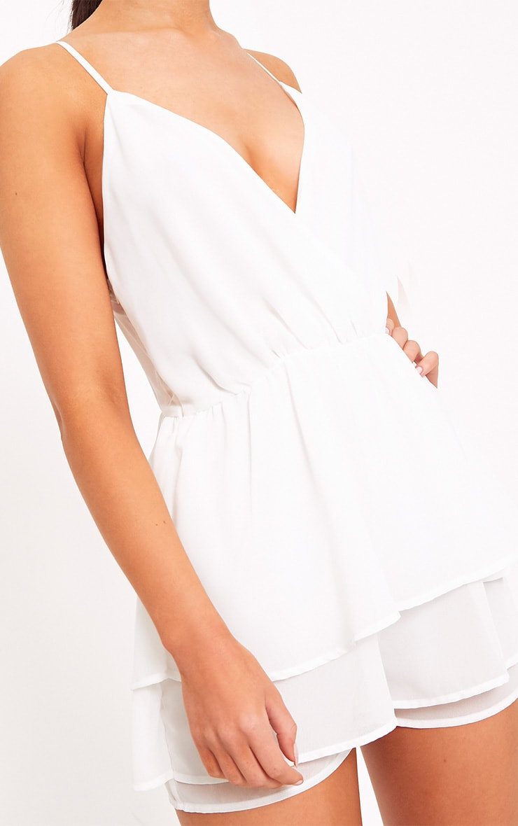 Joney White Frill Layer Playsuit 5