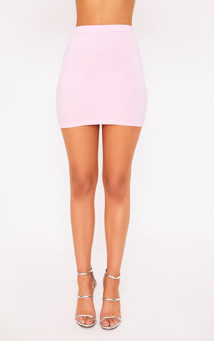 Baby Pink Basic Mini Skirt 4